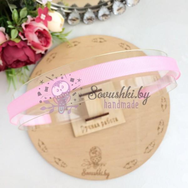 Основа для ободка с репсовой лентой, светло-розовый