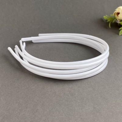 Ободок для волос 0,5 см пластик, белый