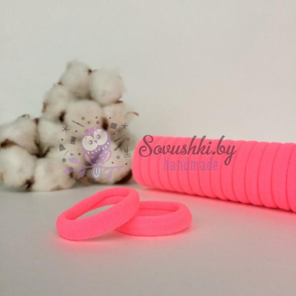 Резинка для волос 3 см, розовый
