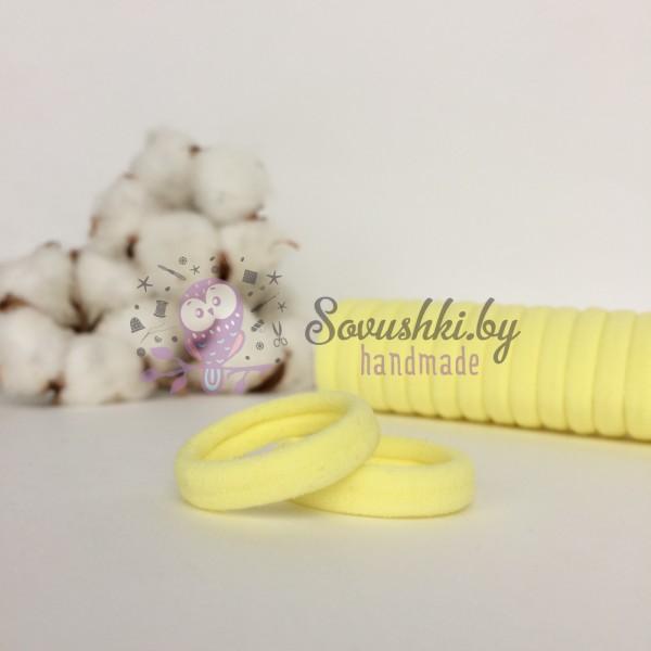Резинка для волос 3 см, светло-желтый