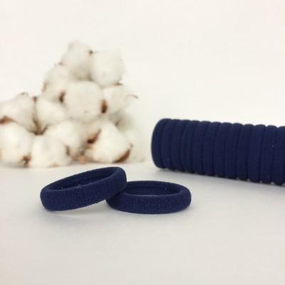 Резинка для волос 3 см, темно-синий