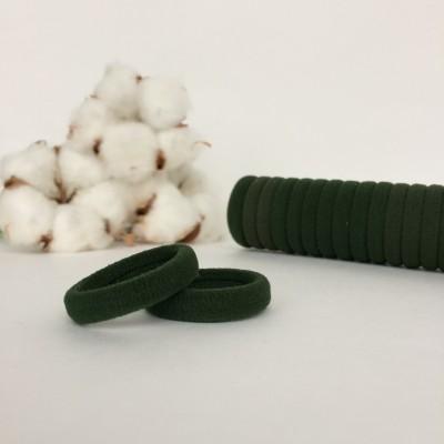 Резинка для волос 3 см, темно-зеленый