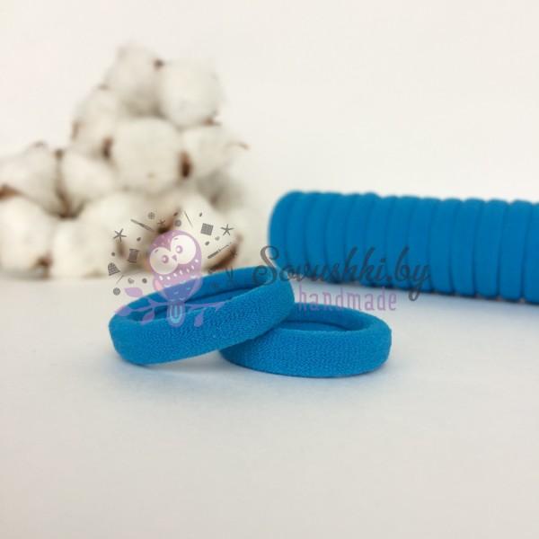 Резинка для волос 3 см, голубой