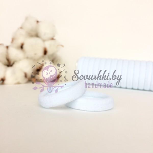 Резинка для волос 3 см, белый