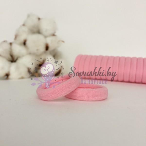 Резинка для волос 3 см, светло-розовый