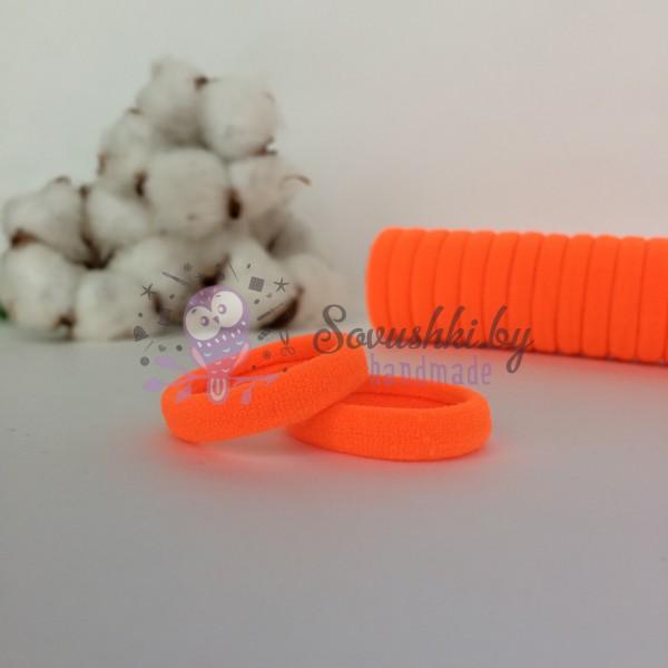 Резинка для волос 3 см, оранжевый