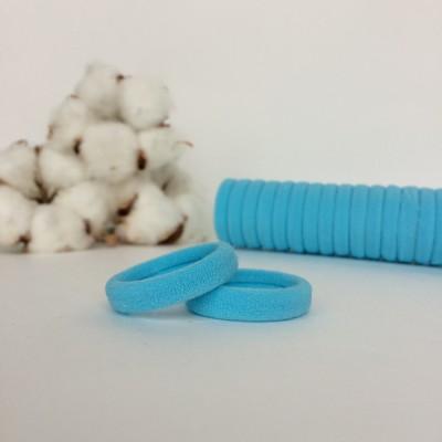Резинка для волос 3 см, светло-голубой