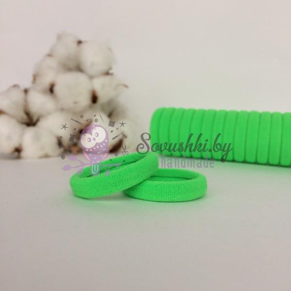 Резинка для волос 3 см, салатовый