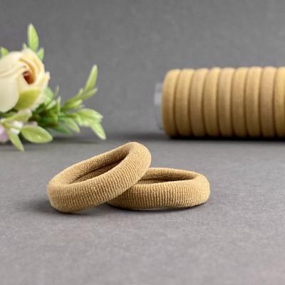 Резинка для волос 3 см, бежевый