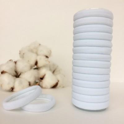 Резинка для волос 4 см, белый