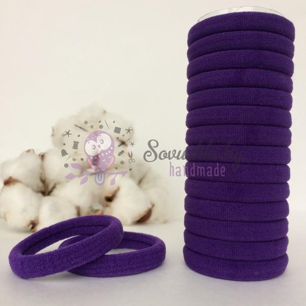 Резинка для волос 4 см, фиолетовый