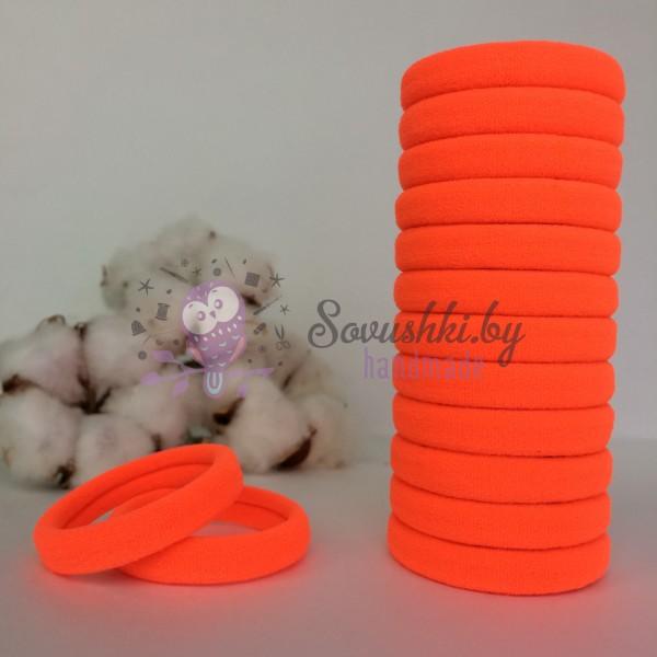 Резинка для волос 4 см, оранжевый