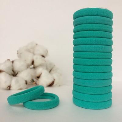 Резинка для волос 4 см, аквамарин