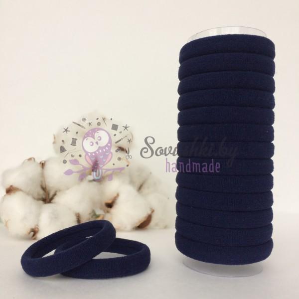 Резинка для волос 4 см, темно-синий