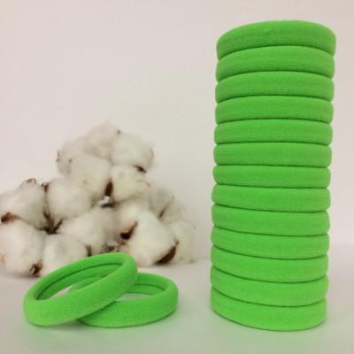 Резинка для волос 4 см, салатовый