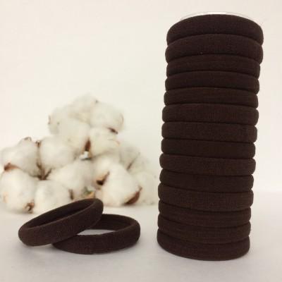 Резинка для волос 4 см, коричневый