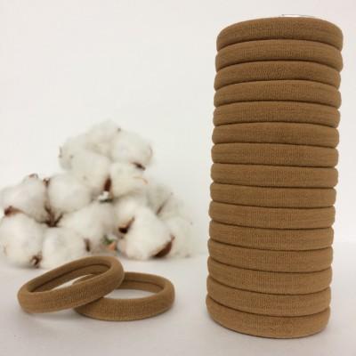 Резинка для волос 4 см, бежевый