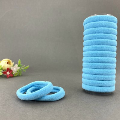 Резинка для волос 4 см, светло-голубой