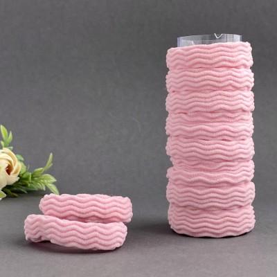 Резинка для волос рифленая 4 см, нежно-розовый