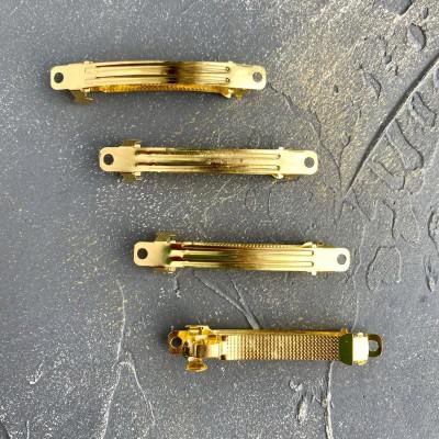 Основа для заколки автомат металл, золото