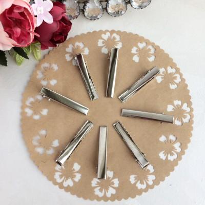 Основа-зажим для заколки 4.5 см серебро