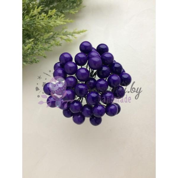 Ягодки на веточке, тёмно-фиолетовые