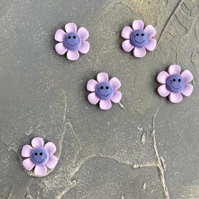 """Кабошон """"Цветочек"""" светло-фиолетовый"""