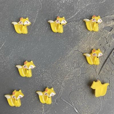 """Кабошон """"Лисичка"""", желтый"""