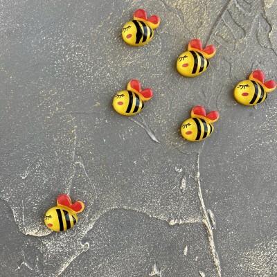 """Кабошон """"Пчелка"""", желтый"""