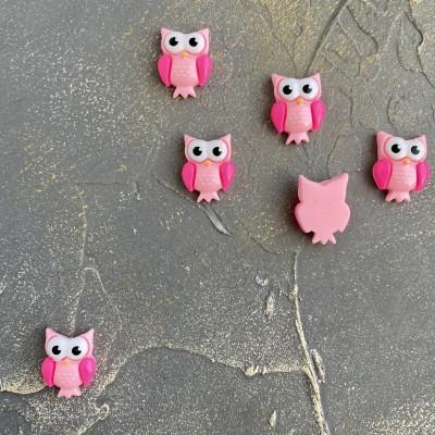 """Кабошон """"Совушка"""", светло-розовый"""
