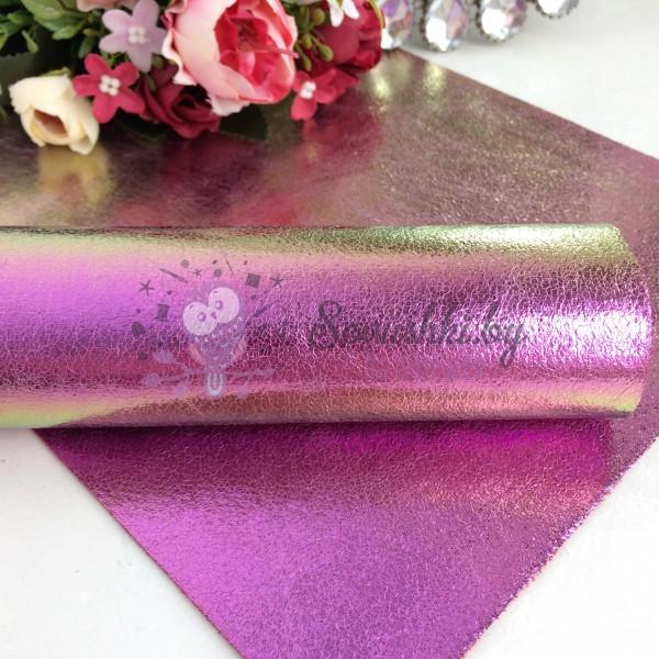 Декоративный кожзам Хамелеон, светло-фиолетовый