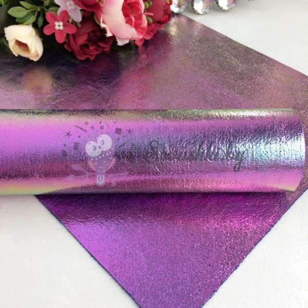 Декоративный кожзам Хамелеон, темно-фиолетовый