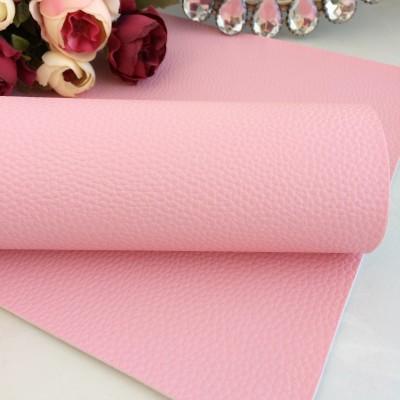 """Кожзам текстурный матовый """"Зерно"""", светло-розовый"""