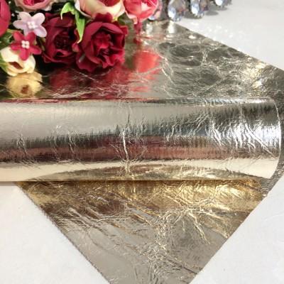 Декоративный кожзам Фольга, золото