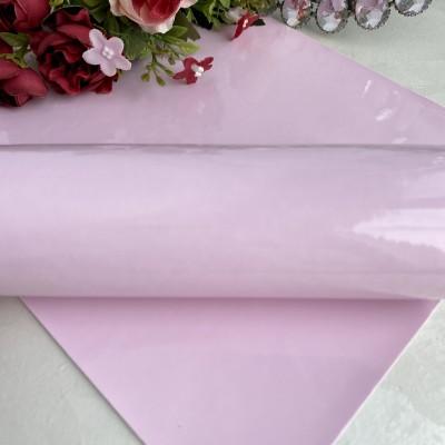 Кожзам гладкий, светло-розовый лак