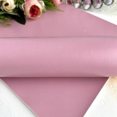 Кожзам однотонный дымчато-розовый