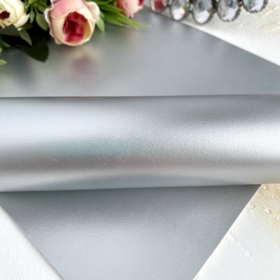 Кожзам однотонный серебро