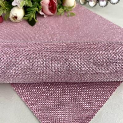 Кожзам текстурный блестящий, розовый