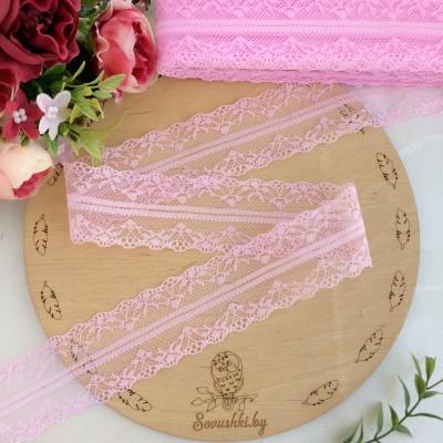 Кружево 4 см розовое