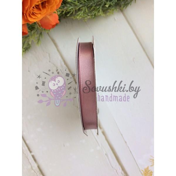 Лента атласная 10 мм, пудрово-розовый