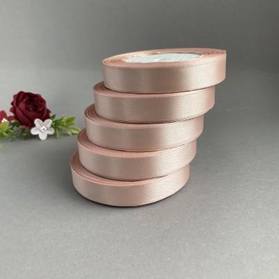 Лента атласная 15 мм, пепельно-розовый