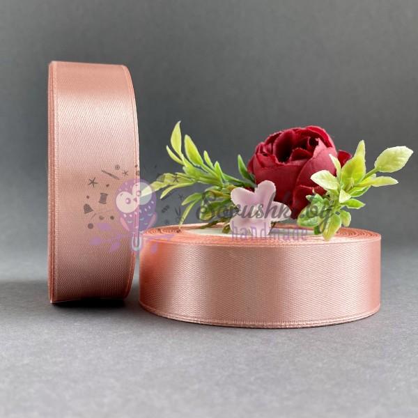 Лента атласная 25 мм, дымчато-розовый (146)