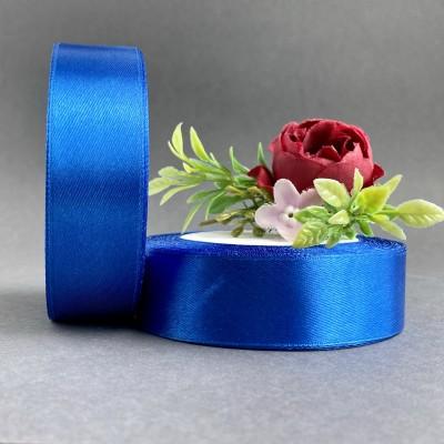 Лента атласная 25 мм, синий (040)