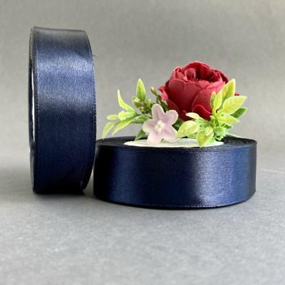 Лента атласная 25 мм, темно-темно-синий (154)