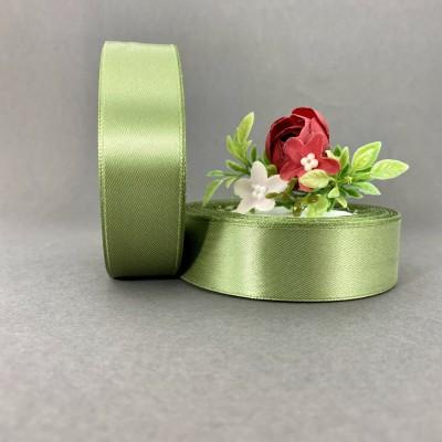 Лента атласная 25 мм, пепельно-зеленый (111)