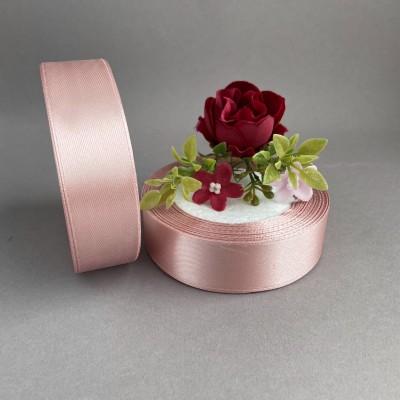Лента атласная 25 мм, дымчато-розовый (107)