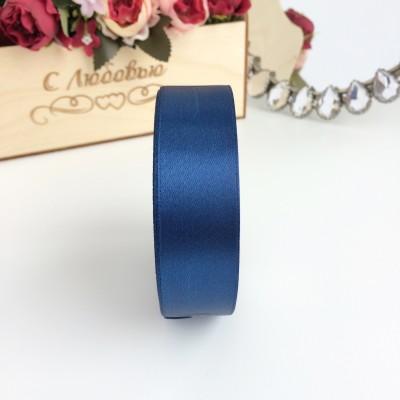 Лента атласная 25 мм, темно-синий