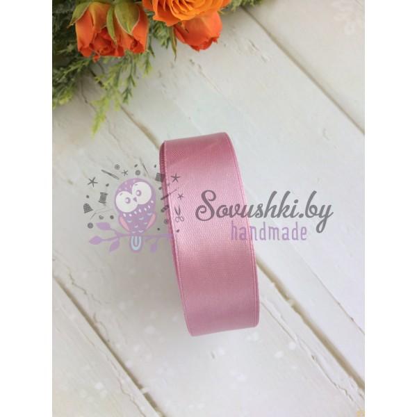 Лента атласная 25 мм, розовый №1