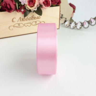 Лента атласная 25 мм, розовый №2