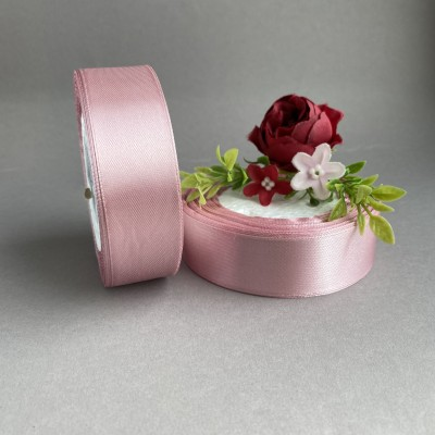 Лента атласная 25 мм, розовый (135)